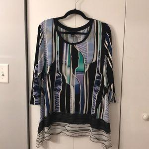 Patterned tunic shirt